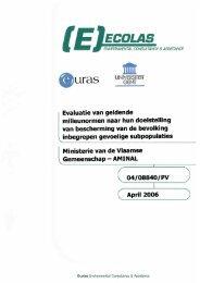 eindrapport van de studie - Lne.be