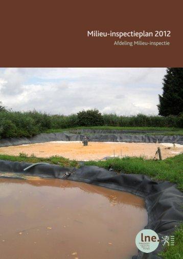 Milieu-inspectieplan 2012 - Lne.be