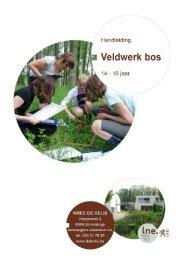 NMEC De Helix Veldwerk bos: 14-16 jaar (handleiding) 1 - Lne.be