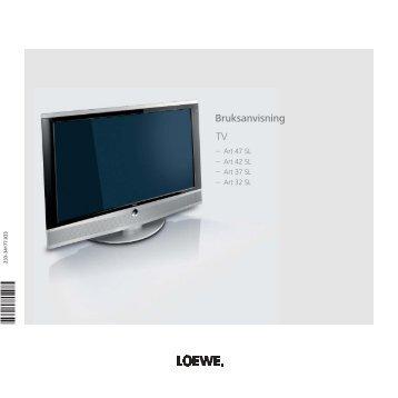 Bruksanvisning TV - Loewe