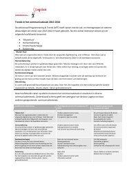 Trends in het communicatievak 2013-2014 - Logeion