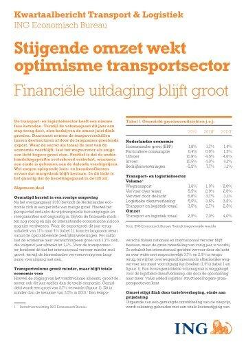 Stijgende omzet wekt optimisme transportsector - Logistiek.nl