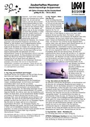 Zauberhaftes Myanmar - Logo Reisen