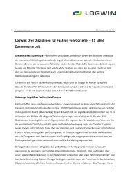 101123 Logwin_Pressemitteilung_Cortefiel - Logwin Logistics