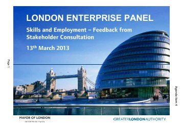 Presentations PDF 1 MB - Greater London Authority