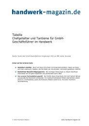 Tantieme nach Gewerken - Handwerk Magazin