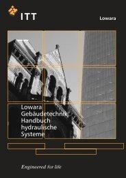 Lowara Gebäudetechnik Handbuch hydraulische Systeme