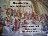 Gravitation - grundlegende Ideen von Aristoteles bis Einstein