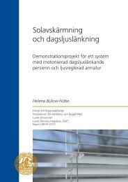 Omslag PDF slutrapport Belok.indd - Lunds Tekniska Högskola