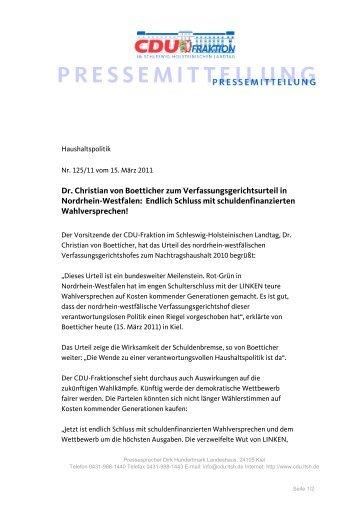 Dr. Christian von Boetticher zum Verfassungsgerichtsurteil in ...