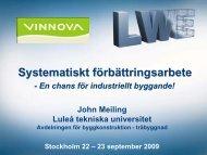 Systematiskt förbättringsarbete - Luleå tekniska universitet