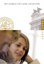 Att studera vid Lunds universitet 2005-2006