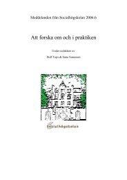 Att forska om och i praktiken - Lunds universitet