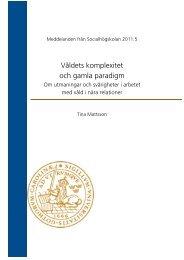Våldets komplexitet och gamla paradigm - Lunds universitet