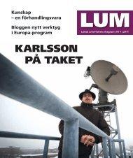 KARLSSON På TAKET - Lunds universitet