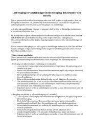 arbetsgång anställningar Biologi (pdf) - Lunds universitet