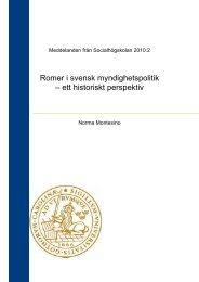 Kapitlet inleds med ett kort avsnitt om romernas ... - Lunds universitet