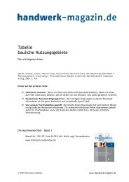 Nutzungsgebiete, baulich - Handwerk Magazin