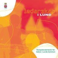 Broschyr om kompetenskriterier för ledare i Lunds kommun