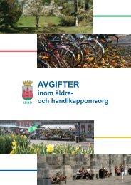 Broschyr om avgifter inom äldre- och ... - Lunds kommun
