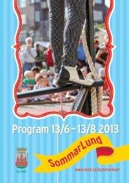 Sommarlund: Program 2013 - Lunds kommun