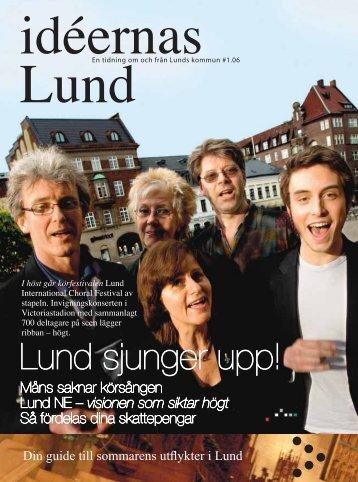 Måns saknar körsången Lund NE – visionen som ... - Lunds kommun