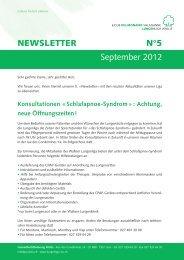 NEWSLETTER N°5 September 2012 - Lungenliga