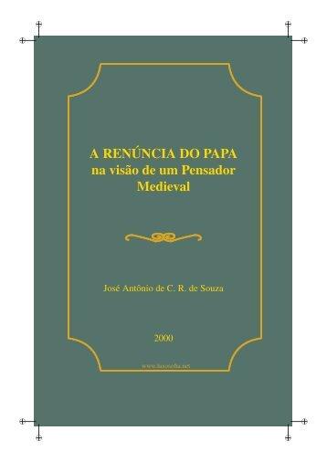 A Renúncia do Papa na visão de um Pensador Medieval - LusoSofia