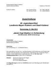 Ausschreibung - Leichtathletik-Verband Rheinland e.V.