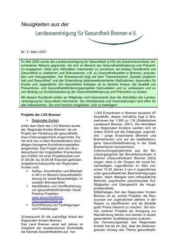 Nr. 3 / März 2007 - Landesvereinigung für Gesundheit Bremen eV