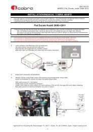 4600FD Fiat Ducato husbil 2006->2011 installation