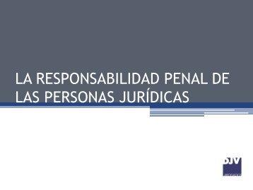 la responsabilidad penal de las personas jurídicas - Madrid Network
