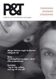 FORSKNING BILDNING UTBILDNING Många ... - Malmö högskola