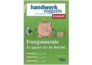 Energiewende So sparen Sie im Betrieb - Handwerk-Magazin