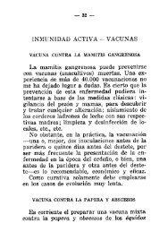 VACUNAS La mamitis gangrenosa puede prevenirse con vacunas