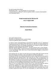 Rede des Mainova- Vorstandsvorsitzenden Ewald ... - Mainova AG