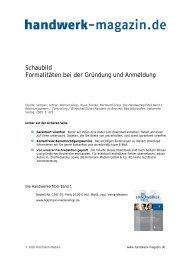 Schaubild Formalitäten bei der Gründung und ... - Handwerk Magazin