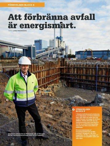 Att förbränna avfall är energismart. - Mälarenergi