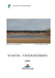 SVARTÅN – VÄSTERÅSFJÄRDEN 2009 - Mälarenergi AB