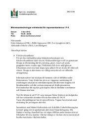Minnesanteckningar enhetsråd för representanterna i ... - Malmö stad