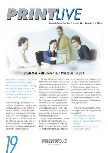 Studenten kalkulieren mit Printplus DRUCK