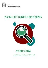 Kvalitetsredovisning 2008/09 - Malmö stad