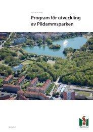 Program för utveckling av Pildammsparken - Malmö stad