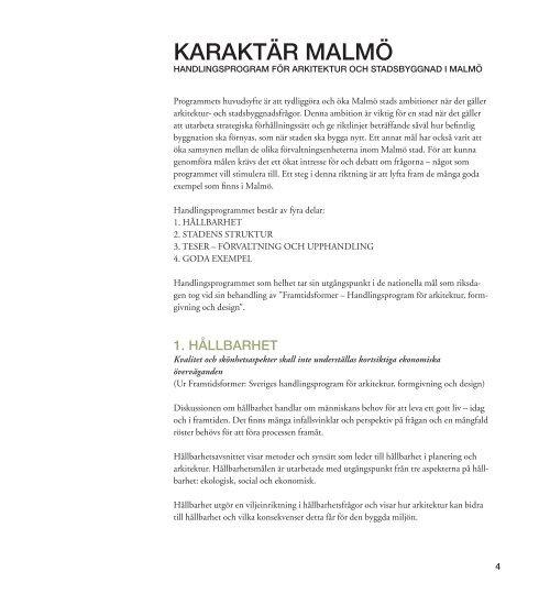 STADENS STRUKTUR HANDLINGSPROGRAM - Malmö stad