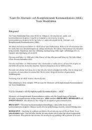 Team för Alternativ och Kompletterande Kommunikation (AKK ...