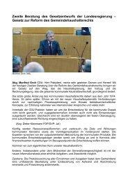 Rede zum Gemeindehaushaltsrecht - Manfred Groh