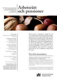 Arbetsrätt och pensioner - Mannheimer Swartling