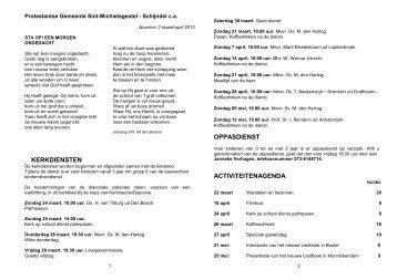 Kerkblad - Protestantsekerk.net