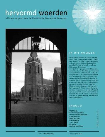 Hervormd Woerden Nr.02 - 1 februari 2013 - Protestantsekerk.net
