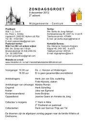 ZONDAGSGROET - Protestantsekerk.net